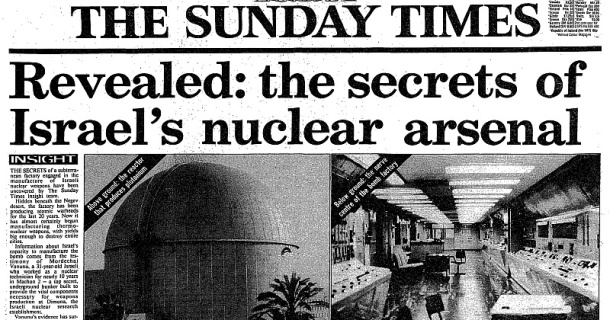 Image result for Revealed: The secrets of Israel's nuclear arsenal